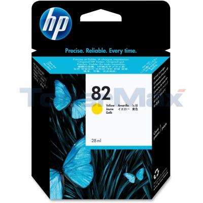 HP NO 82 INK YELLOW 28ML